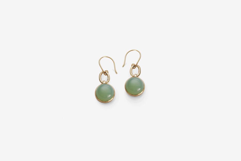 Clear stone ear G, <em>Mint Green</em>